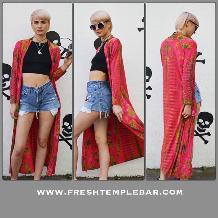 Check out new colours in our kimonos  ....sold exclusively in FRESH !  Shop in our Temple Bar store or online .... www.freshtemplebar.com  Or asos marketplace #freshtemplebar #fresh #tiedye #boho #festivals #bodyandsoul #love #summer #sun #holidays #levi #shorts #custom #vintage