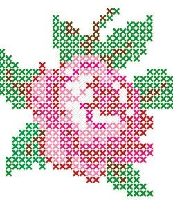 cross stitch patterns rose