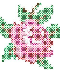 cross stitch patterns rose