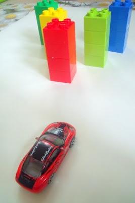 Lego hotwheels Car Bowling