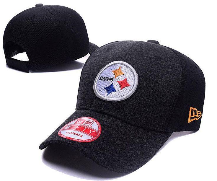 Men's / Women's Pittsburgh Steelers New Era 2016 NFL Classic Team Adjustable Curved Hat - Heather Grey / Black
