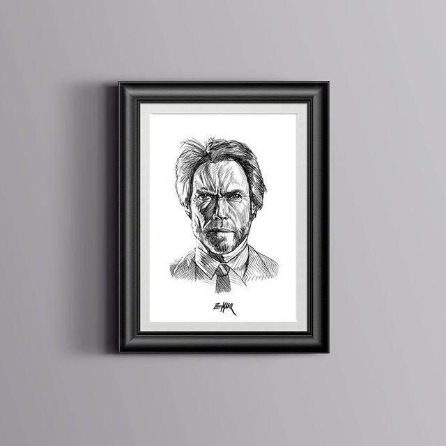 Ich freue mich den jüngsten Neuzugang in meinem #etsy-Shop vorzustellen: Clint Eastwood Artwork #kunst #drucke #digital #art #poster #posterart #kunstdruck #clinteastwood #actor #hollywood #illustration #artist #munich #ballpen http://etsy.me/2D2iTuu