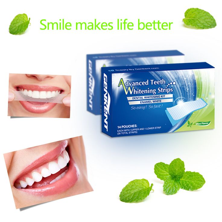 14Pairs Teeth Whitening Strips Care Oral Hygiene  Bleaching Tooth Whitening Blea…