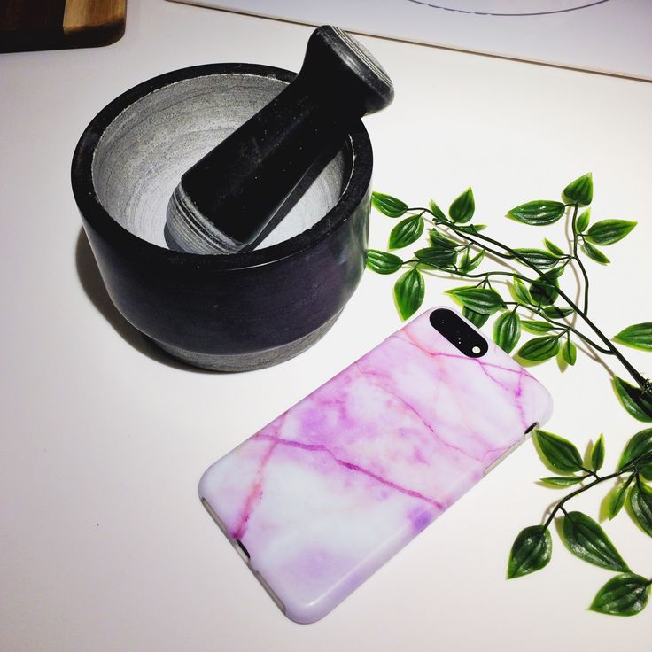 Purple Streak Marble Iphone Case