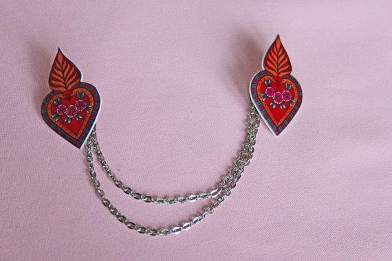 Bolero cardigan vest kraag clips heilig hart tattoo door MissFrauque