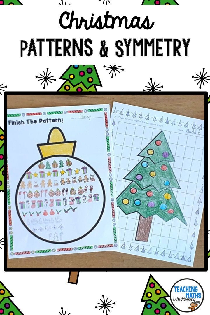 Christmas Patterns And Symmetry Worksheets Christmas Pattern