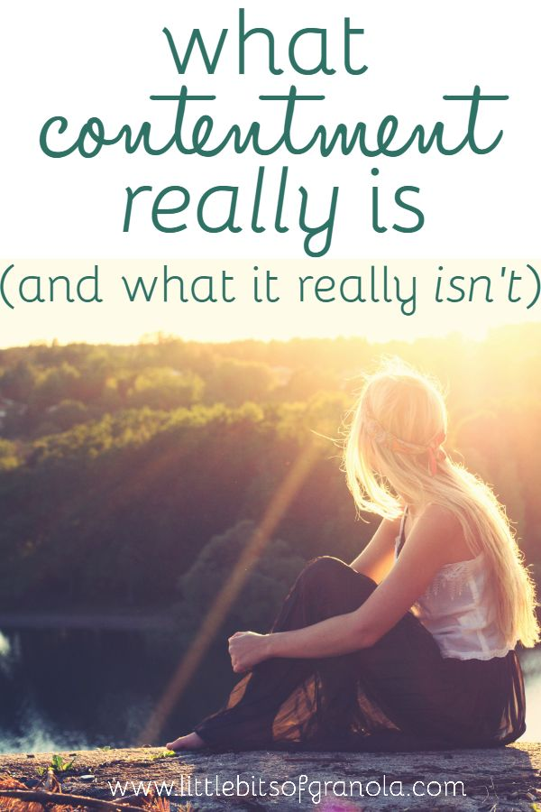 What does contentment really mean? It might not be what you think...