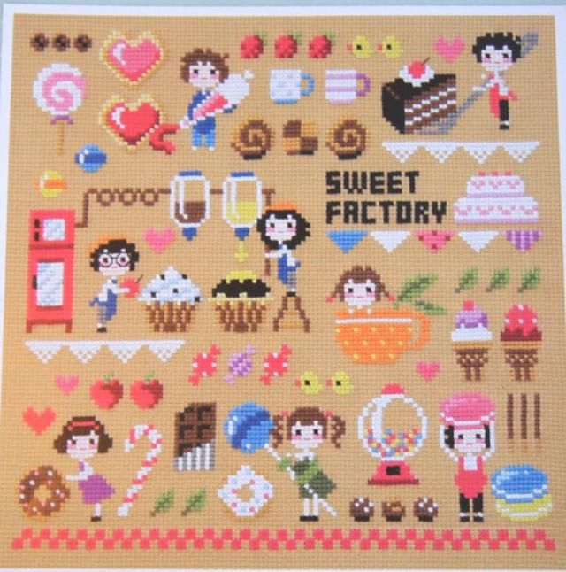 I want Candy! Candy Inspired Cross Stitch: Sweet Factory