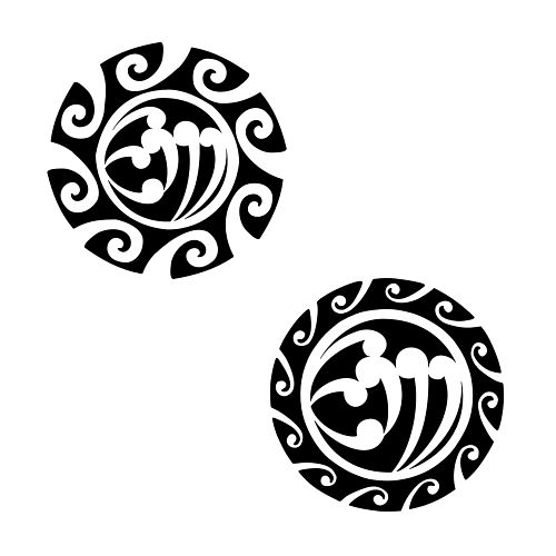 Maori small sun (with letters in the middle)