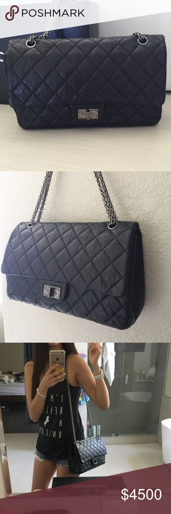 Chanel reissue 227 In perfect condition~ no corner wear or scuff marks. Full set with authentic card, care booklet, dust bag, and box. This is 14 series.. Serious inquires only. No trades Chanel Bags Shoulder Bags