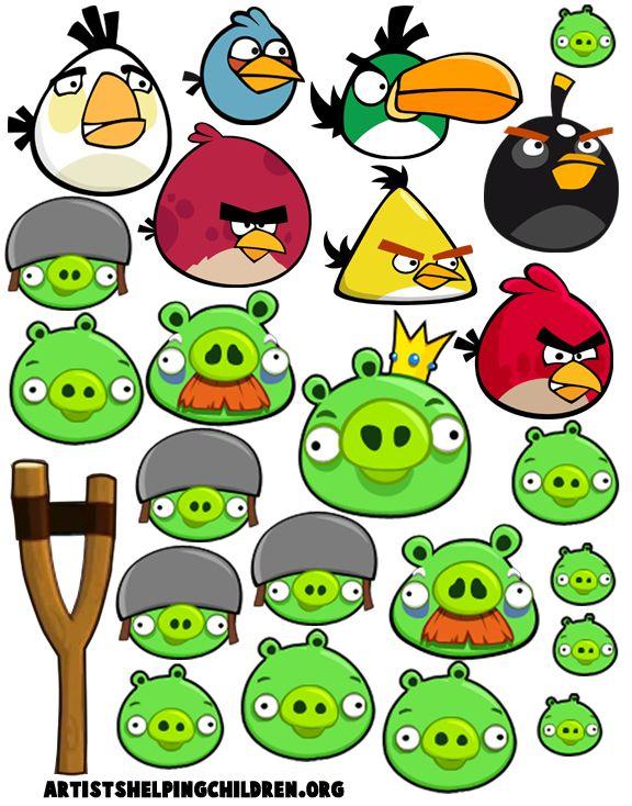 free angry bird printables