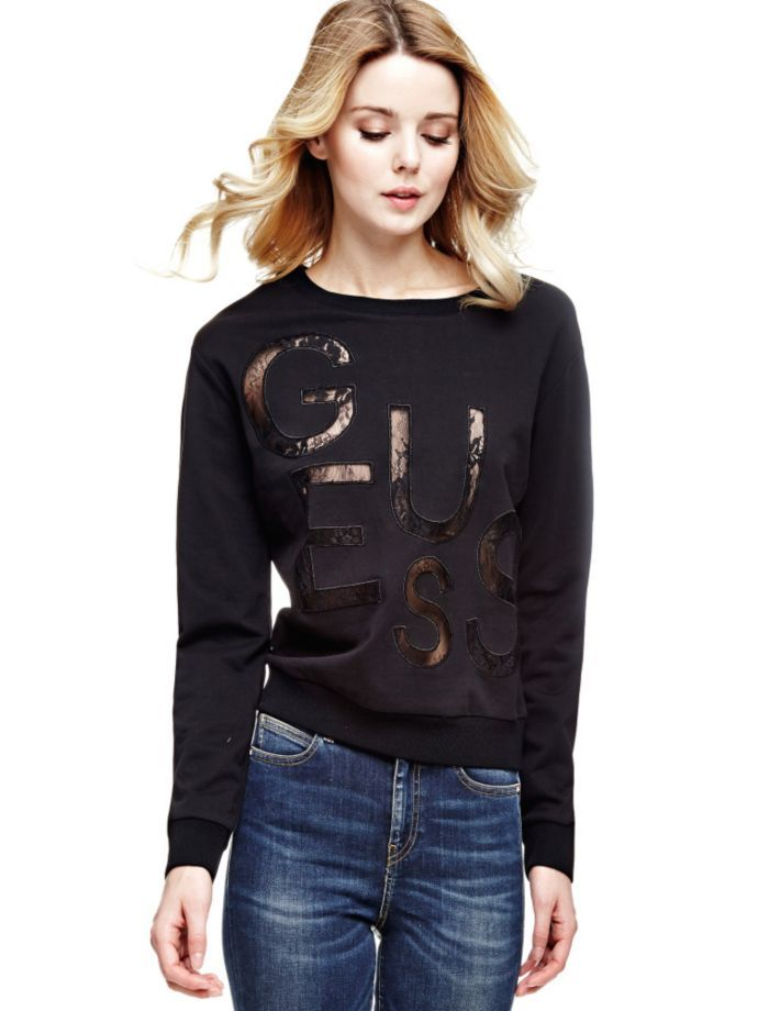 EUR79.90$  Watch now - http://viaza.justgood.pw/vig/item.php?t=0mn7se53336 - SWEATSHIRT WITH LACE LOGO