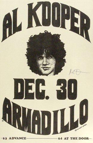 Al Kooper Poster from Armadillo World Headquarters on 30 Dec 76