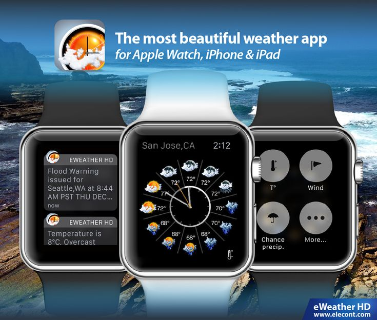 Tornado, winter storm, flood? Get instant severe weather alerts, accurate weather forecast in eWeather HD app for Apple Watch, iPhone and iPad.