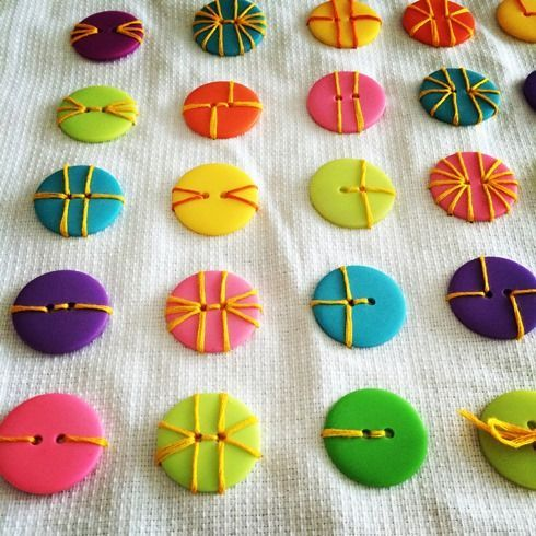 Image result for a fun way to sew on buttons