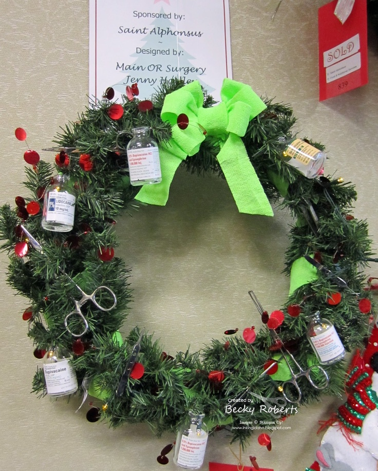 Hospital Christmas Decorations That Show Medical Staff