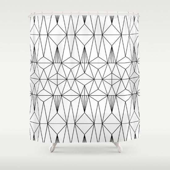 Buy Shower Curtains featuring My Favorite Pattern 1 by Mareike Böhmer Graphics and Photography. Made from 100% easy care polyester our designer shower curtains are printed in the USA and feature a 12 button-hole top for simple hanging.