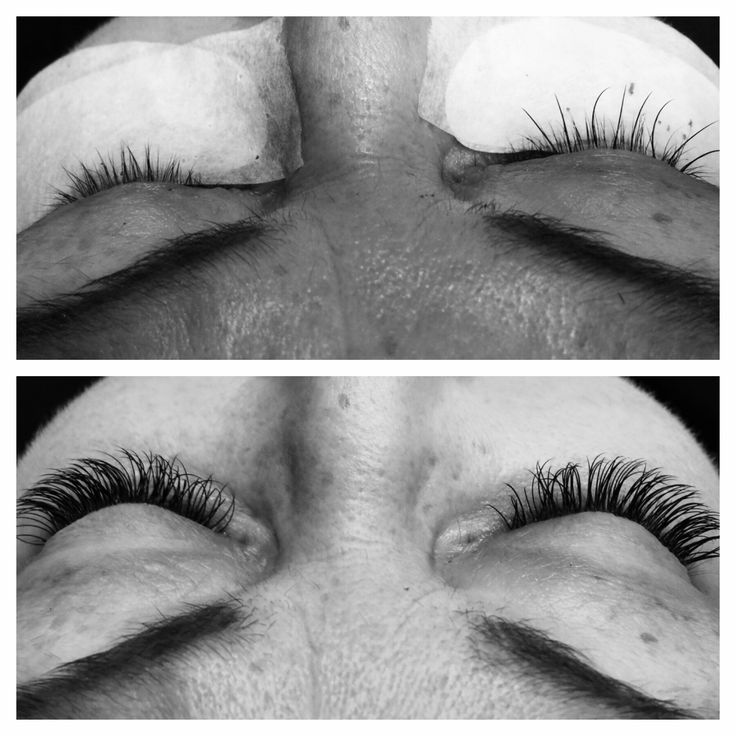 Before and after  Mink lashes C-0,20 mm 11&12