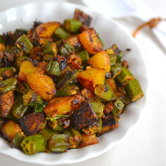 Okra, Lunch boxes and Stir fry on Pinterest