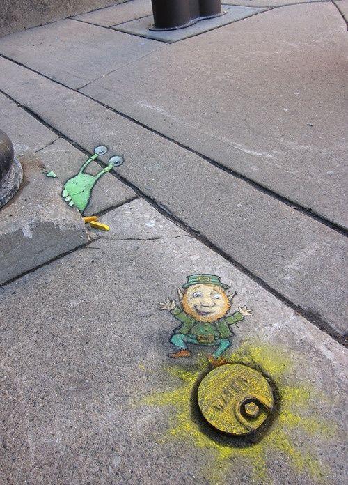 Best David Zinn Chalk Sidewalk Art Images On Pinterest - David zinns 3d chalk art adorably creative