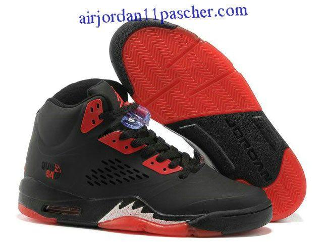 Wholesale Cheap Black/Fire Red Women Air Jordan 5 (V) Sports Shoes Shop