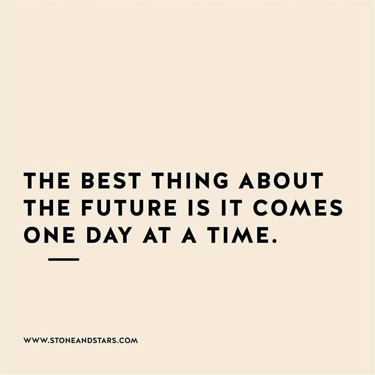 Rest, recover and make your own future oneat a time