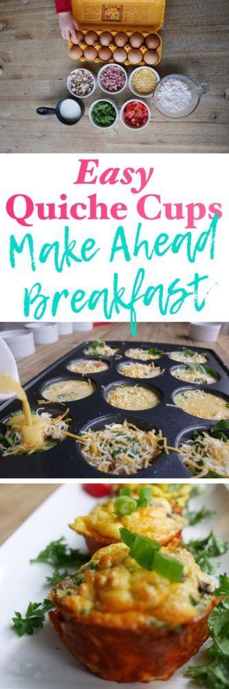 Easy Quiche Cups: Make Ahead Hearty Breakfast for Busy Mornings #breakfast #makeahead #busymornings #quiche #eggmuffins