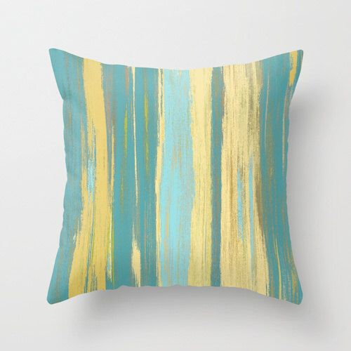 teal yellow throw turquoise cover listing and pillows pillow il decorative