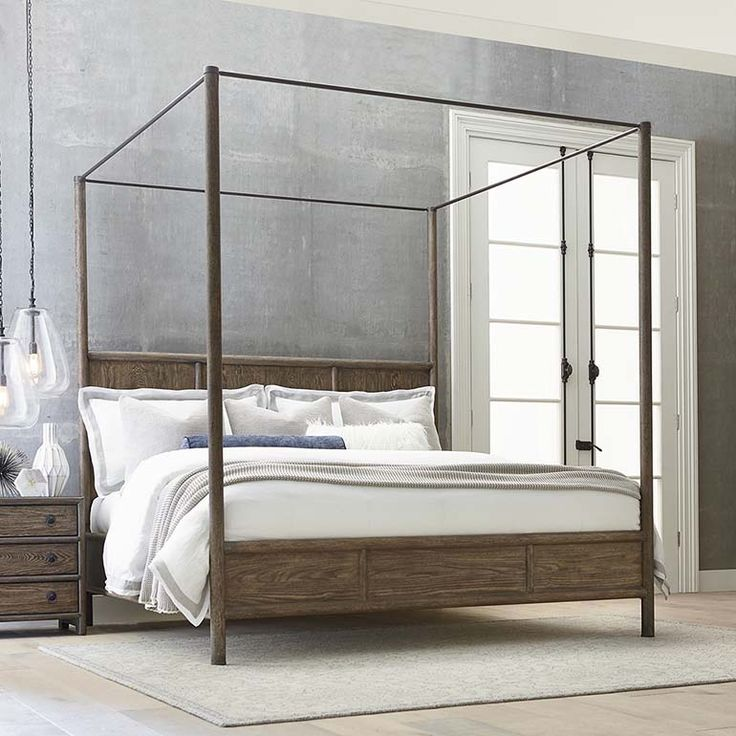 Bassett Furnitureu0027s Peninsula Poster Bed Features A Simple Yet Sturdy  Elegance, With Clean Lines And