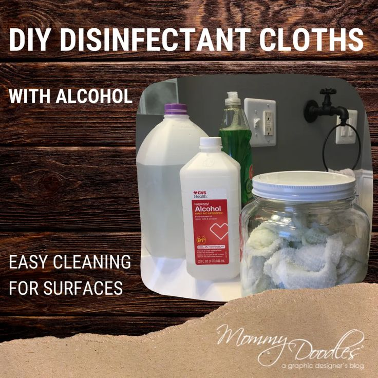 DIY Disinfectant Isopropyl Alcohol Cloths Mommy Doodles