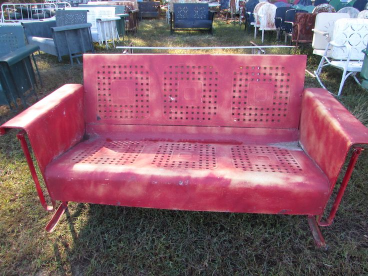 Welcome to our un-restored 3seat vintage metal porch gliders page.Please click through the photos on the right-handside of the page to make them larger.On this page you will find a variety of 3seat...