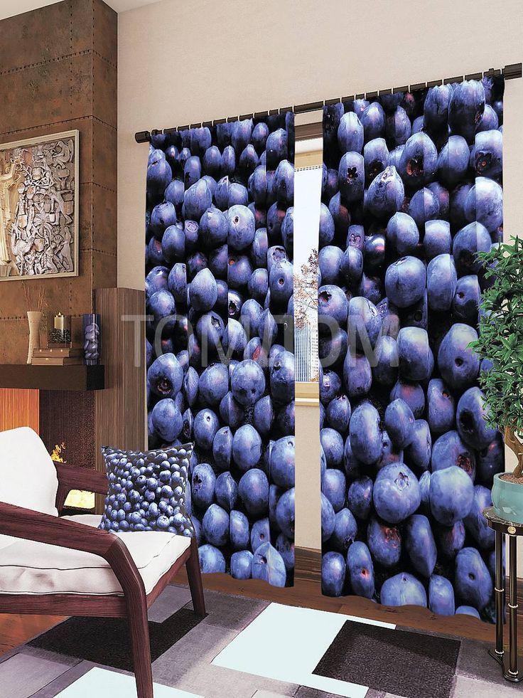 """Комплект штор """"Черника"""": купить комплект штор в интернет-магазине ТОМДОМ #томдом #curtains #шторы #interior #дизайнинтерьера"""