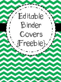 editable chevron binder covers freebie school stuff pinterest