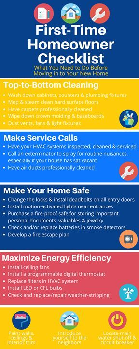 Are you or someone you know a NEW #Homeowner? Tag them for these helpful tips that might get overlooked in the hustle and bustle of moving in! For larger repairs call Handyman House Techs so you can relax and enjoy your new house! 228-297-0063 #handyman #Alabama #Mississippi #licensed #bonded #insured