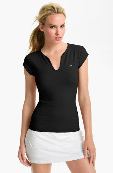 Free shipping and returns on Nike 'Pure' Tennis Top at Nordstrom.com. Serve up scorching returns outfitted in a split-neck tennis top cut for a figure-skimming fit. The moisture-wicking Dri-FIT knit keeps things cool even when the match goes into extra sets.