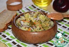 """Картофельный салат """"Минутное дело"""".... Ингредиенты для """"Картофельный салат """"Минутное дело"""""""": Картофель — 3 шт Огурец маринованный — 2 шт Капуста квашеная — 200 г Лук красный — 1 шт Масло подсолнечное (салатное,с запахом) — 4 ст. л. Горчица (зернистая) — 1 ст. л. Перец черный (молотый) — по вкусу Укроп — 1/2 пуч."""