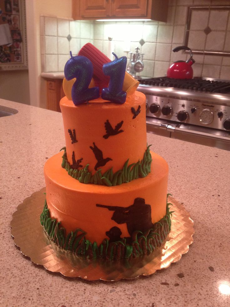 Duck Hunting Cake For My Hunny S 21st Hunting Cute