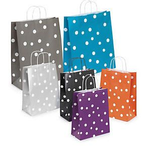 8 best spotty gift bags images on pinterest wrap gifts wrapping spotted paper carrier bags with twisted handles negle Choice Image