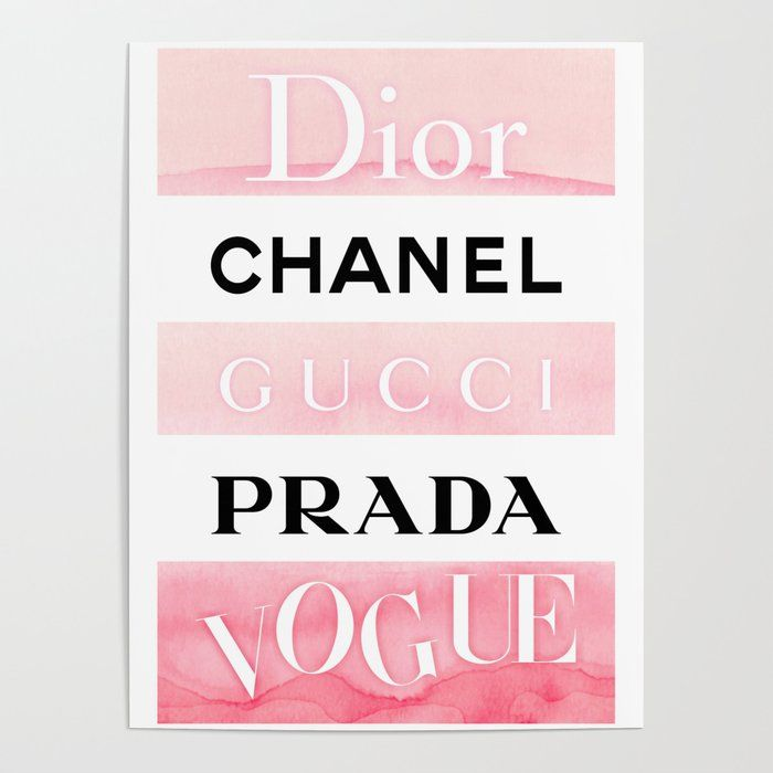 Dd Poster By Rucker1994 Society6 Fashion Wall Art Chanel Art Chanel Decor