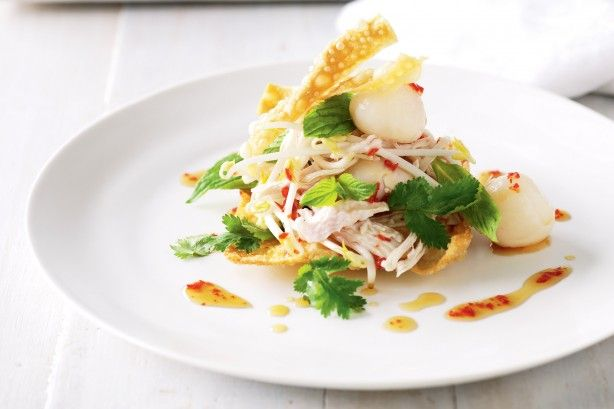 Chicken & lychee salad with wontons main image