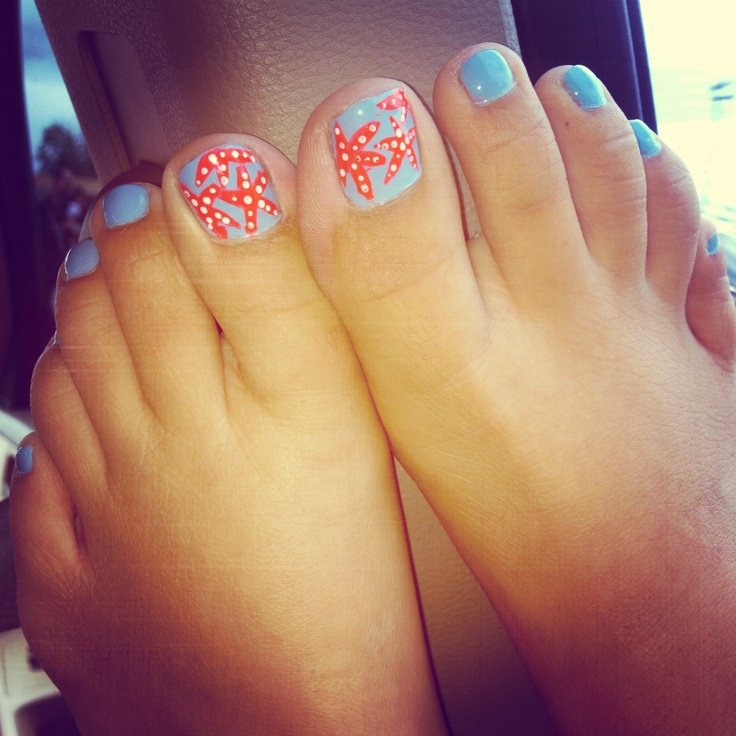 Starfish toes for the summer :)