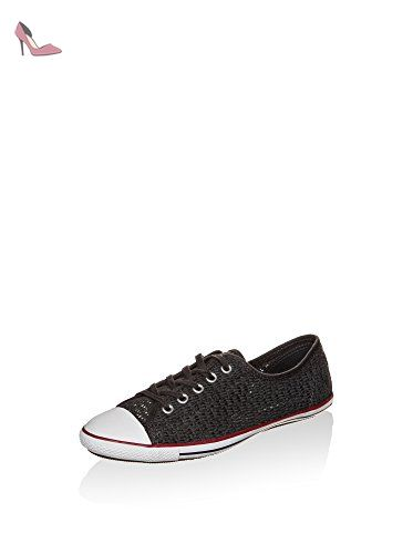 Converse Chucks Dainty 551890C All Star Light 2 Noir Presque Noir Blanc Grenat, Converse Schuhe Damen Slim Sizegroup Leiste 7 5/B:38 - Chaussures converse (*Partner-Link)