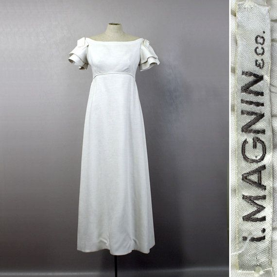 Vintage Wedding Dresses Etsy: Vintage 1960s Wedding Dress