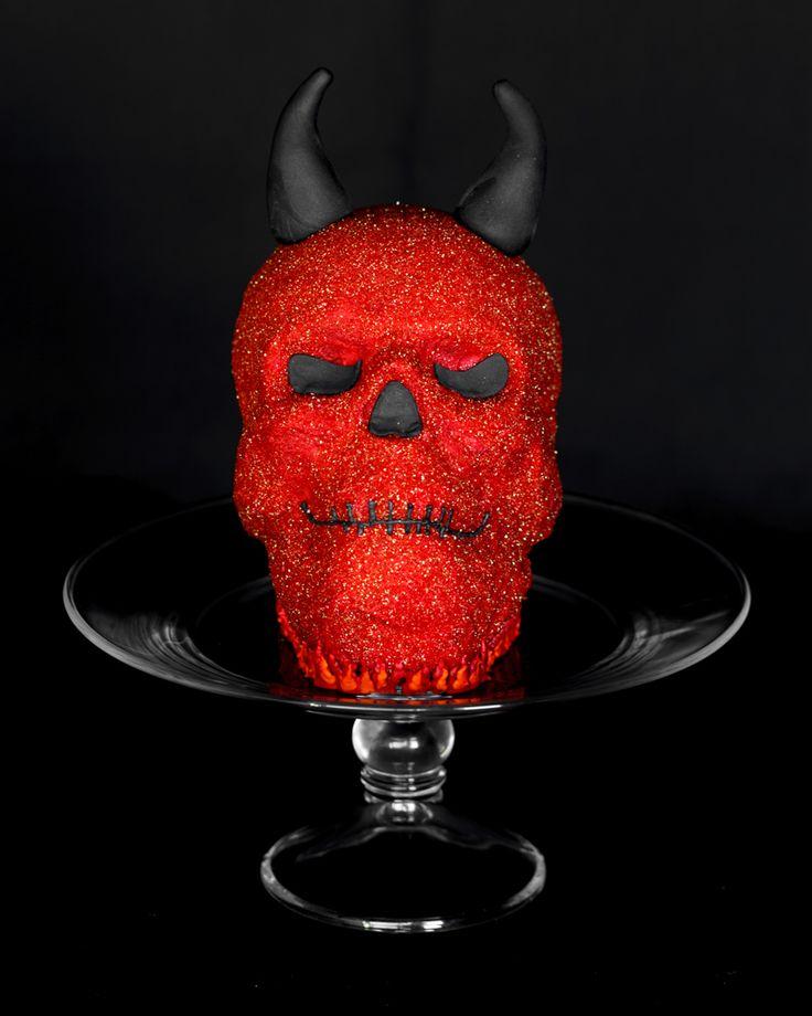 Red Devil Skull Cake