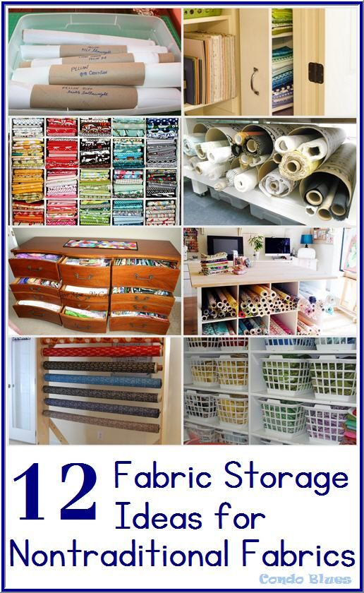 Condo Blues: 12 Small Space Fabric Storage Ideas You Need To Try Right Now! Click the photo to learn the best ideas for organizing and storing sewing fabric in a small space