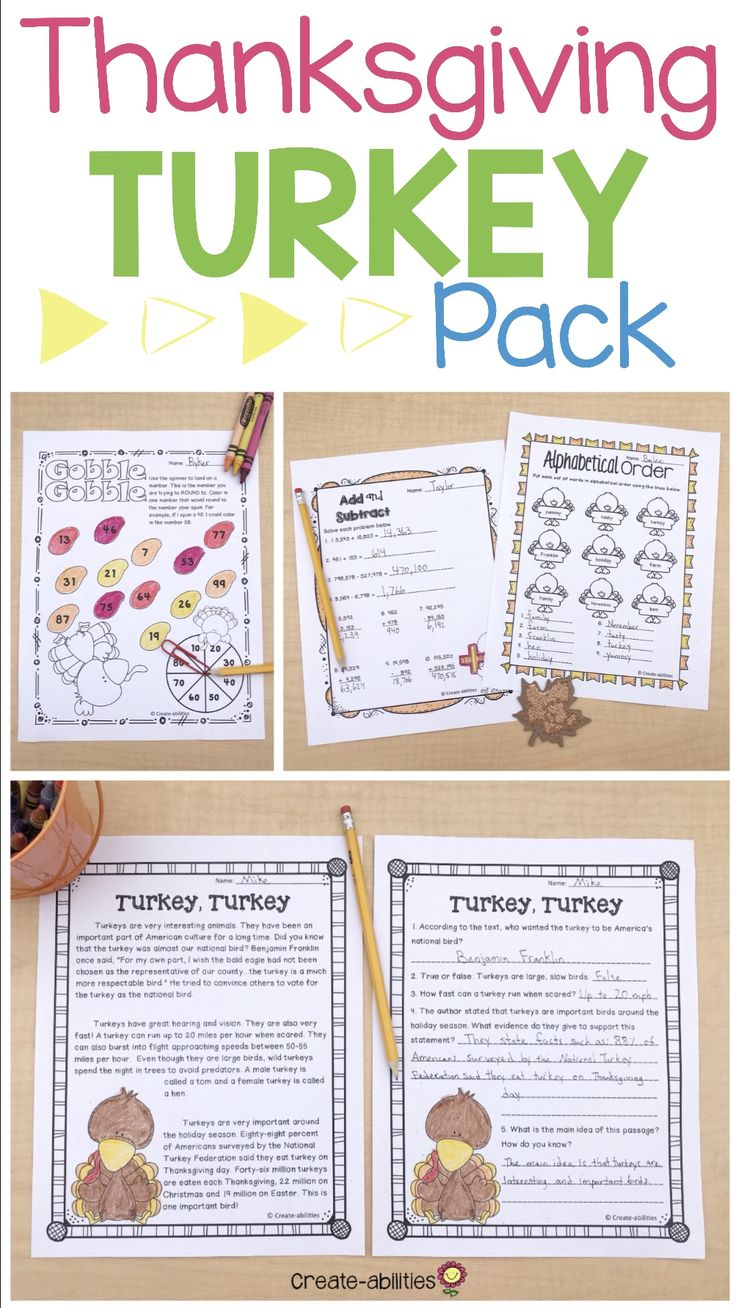 Thanksgiving Turkey Pack Reading Writing and Math Activities - Use this 57 page resource this November with your 3rd, 4th, 5th, or 6th grade upper elementary classroom or home school students. Your students will work on synonyms, adjectives, nouns, alliteration, using transition words, sentence scramble, capitals and end marks, writing prompts, place value, multiplication, division, and MUCH MORE. Great for centers, stations, independent printable worksheets, graphic organizers, and more.