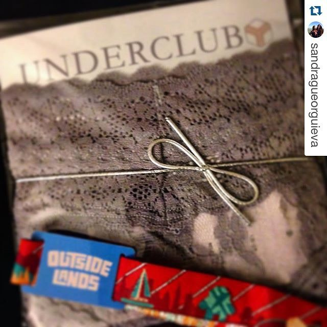 """Fancy panties and Outside Lands tickets all in one day - it was a good day to come home! Thanks @underclubco"" // instagram.com/underclubco"
