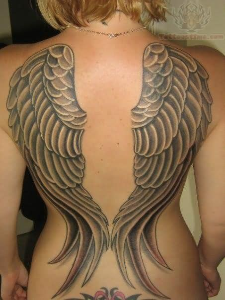 Angel Wing Tattoos for Girls | Angel Tattoos Pictures and Images