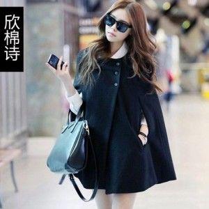 Jackets  Wool Tweed Coat Cape Overcoat. Promo Offer