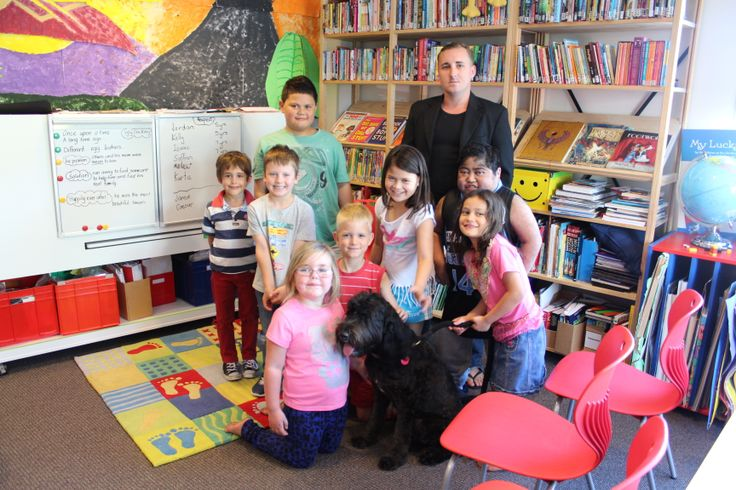 Opie the dog visiting the School! #RMH